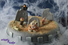 Tarta cementerio Zombie