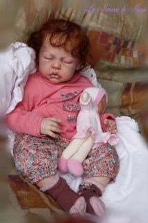 Reborn Baby Girl Doll Human Hair Toddler Anne Timmerman Kit