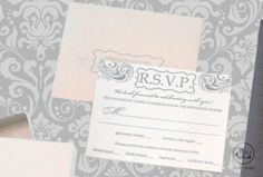 Luxury Blush & Platinum Wedding Invitations - Gatefold and Boxed Invitation Starting Price-$42-$90/each set A set includes your invitation, response card, response envelope and mailer. Our minimum order is 50 invitations.