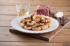 Folhados de queijo de cabra e presunto (robot de cozinha)