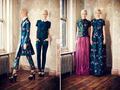 Love the patterns and shapes. Silhouette is so ladylike From Honestly WTF -Erdem