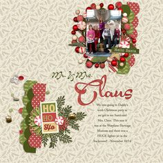 Hello Christmas Collection + Iffy's Calendar Countdown Templates from Peppermint Creative | page by @staceyashby #digiscrap