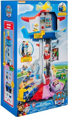 PAW Patrol My Size Lookout Tower with Exclusive Vehicle, Rotating Periscope and Lights and Sounds Paw Patrol Gifts, Paw Patrol Toys, Toddler Gifts, Toddler Toys, Kids Toys, Disney Cars Party, Disney Toys, Paw Patrol Lookout, Paw Patrol Bedroom