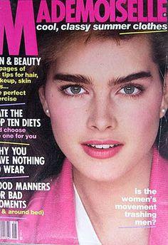Brooke Shields - Mademoiselle May 1982 Brooke Shields Young, Mademoiselle Magazine, World Most Beautiful Woman, Beautiful Women, Magazin Covers, Original Supermodels, Latest Gossip, Fashion Cover, Glamour Magazine