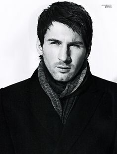 Lionel Messi in a scarf?! Oh Leo, why must you be so good looking?