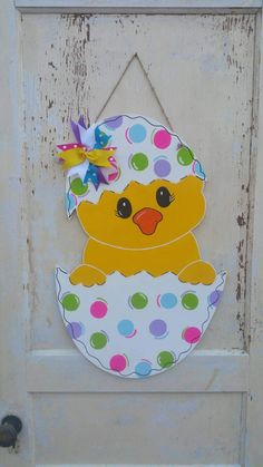 Easter Decor, Easter Door Hanger, Easter Decorations, Easter Door Decor, Door Hanger, Door Decor, Happy Easter, Wood Door Hanger by BRSouthernCraft on Etsy https://www.etsy.com/listing/505539634/easter-decor-easter-door-hanger-easter