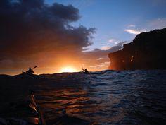 Setting sun en route to Sydney Harbour Ocean Kayak, Kayaking, Canoeing, Back Road, Open Water, Paddle, Paradise, Australia, River