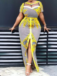 Elegant African Women Dresses suitable for Evening Dresses. Women Dresses Dress Women's Fashion Click The Link Above To See All Our Womens Fashions! African American Fashion, Latest African Fashion Dresses, African Print Dresses, African Dresses For Women, African Print Fashion, Africa Fashion, African Wear, African Attire, African Style