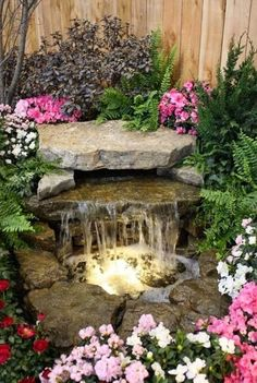 Take benefit of the herbal daylight in outdoor water fountain design ideas which can make your water aspects appear amazing.Such water feature ideas for small gardens can mirror off the water that dominates this wall and pond fountain combination. Diy Water Feature, Backyard Water Feature, Ponds Backyard, Backyard Ideas, Patio Ideas, Garden Ponds, Backyard Pergola, Garden Art, Garden Stream