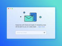 Subscribe UI Inspiration – Muzli -Design Inspiration