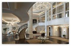 Lobby Design HD Wallpaper For Standard 4:3 5:4 Fullscreen UXGA X. Mansion  InteriorDream House: ...