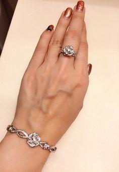 Piaget rose diamond ring and bracelet