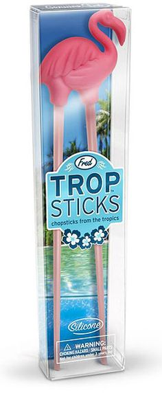 Stick it to your Take-Out with Trop Sticks Flamingo Chopsticks on http://www.onemoregadget.com