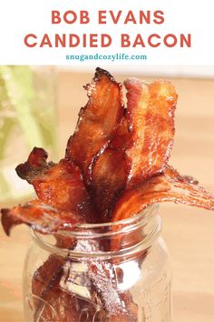 This Candied Bacon Recipe (Caramelized) is the absolute BEST appetizer Ever. Learn how to make this quick and easy app with brown sugar - sweet or spicy, your choice! Simple yet AMAZING for a party, breakfast, or snack! Just like Bob Evans! Bob Evans Candied Bacon Recipe, Bake Sale Treats, Pork Sausage Recipes, Caramelized Bacon, Bacon Appetizers, Easy Party Food, Smoked Bacon, Quick Snacks, Bob Evans Recipes