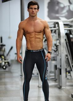 """From the collection """"мужской фитнес. sport video wear male s Komplette Outfits, Sport Outfits, Running Pants, Gym Pants, Hommes Sexy, Fitness Models, Attractive Men, Muscle Men, Hot Boys"""