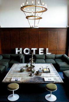 Ace Hotel Portland via houzz.com...with the adjacent Stumptown Coffee!