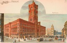 um 1900 Berlin - Rotes Rathaus