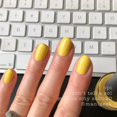opi mexico city collection spring summer 2020 - 'don't tell a sol' Opi Gel Polish, Gel Polish Colors, Fall Nail Colors, Gel Color, Spring Nails, Summer Nails, Latest Nail Colours, Hello Kitty Opi, Opi Collections