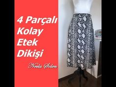 NECLA ŞÖLEN | 4 PARÇALI KOLAY ETEK DİKİŞİ - YouTube Circumcision, Sewing, Skirts, Hat Patterns, Youtube, Fashion, Dressmaking, Moda, Skirt
