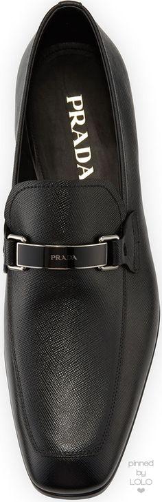 Prada Saffiano Leather Bit Loafer | LOLO❤︎