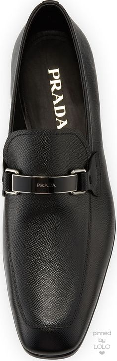 Prada Saffiano Leather Bit Loafer   LOLO❤︎