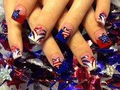 stars and fireworks - Nail Art Gallery