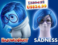 #halloween #halloweenwig #partywig #halloweenparty #cosplay #costume #party #wigs #Insideout #Disgust #Joy #Sadness #Anger #Sale