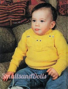 """Lacy Hearts /& Bobbles Frilled Baby Childrens  Sweater 21/"""" 32/"""" Knitting Pattern"""