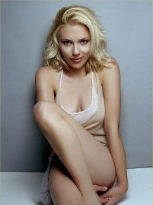Scarlett Johanson, clearly not a man but.. Yeah