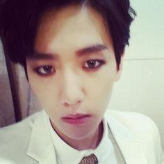 "baekhyun instagram update: #overdose 뱀파이어다!으헝!"" translation: ""#overdose I'm a vampire rawr!"" #baekhyun"