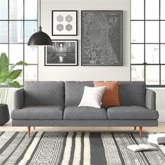 Get inspired by Modern Living Room Design photo by AllModern. AllModern lets you find the designer products in the photo and get ideas from thousands of other Modern Living Room Design photos. Modern Sofa, All Modern, Modern Furniture, Modern Contemporary, Contemporary Apartment, Furniture Design, Handmade Furniture, Rustic Furniture, Chair Design