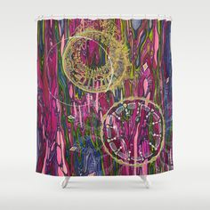 The Velocity of the Venom Antidote (Aligning Forces) Shower Curtain, Jodi Bee. Society 6. $68.