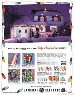 1950 GE Christmas bulbs