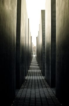 Jewish Holocaust memorial in Berlin Germany by architect Peter Eisenmann / #architecture #memorial #berlin