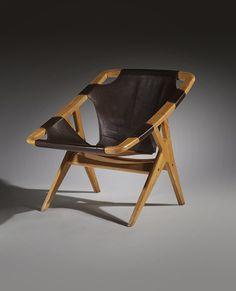 Arne Tidemand Ruud; 'Holmenkollen' Chair for Norcraft, 1960.