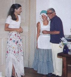 Aristotle Onassis with wife Jackie and her cook, Marta Sgubin