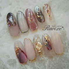 Pin on ネイル Asian Nails, Korean Nails, Shiny Nails, Gel Nails, Manicure, Beautiful Nail Art, Gorgeous Nails, Japan Nail Art, Garra