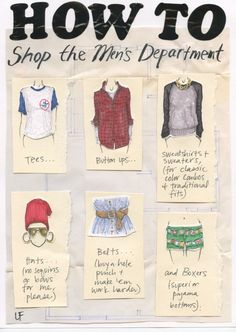 How to Shop the Men's Department   My Closet in Sketches