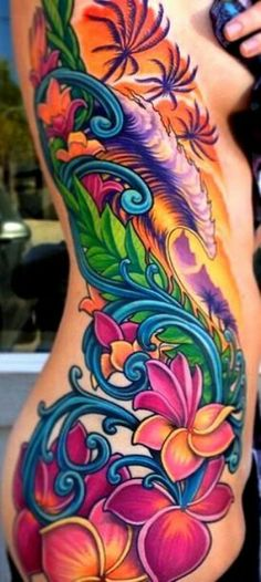 Absolutely Vibrant Torso Piece #Tattoo #Ladyink