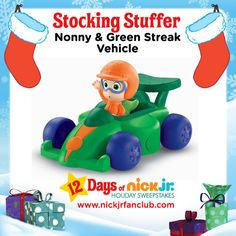 Your preschooler can have hours of fun with Nonny & his green streak racer!