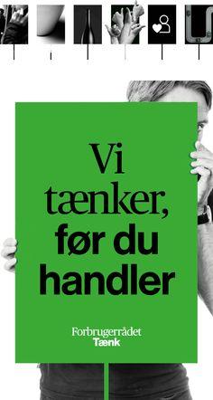 Visual Identity for The Danish Consumer Council: Forbrugerrådet Tænk by Robert Daniel Nagy & Phong Phan