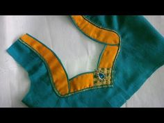 easy patch work blouse designe cutting and stitching Saree Jacket Designs, Patch Work Blouse Designs, Pattu Saree Blouse Designs, Blouse Designs Silk, Designer Blouse Patterns, Sari Blouse, Latest Blouse Neck Designs, Simple Blouse Designs, Dress Neck Designs