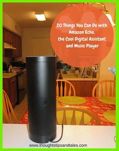 Here's a list of 20 things you can do with Amazon Echo -- a very cool digital assistant and music player. It makes a great gift for families, individuals from 9 to 99. I love mine!