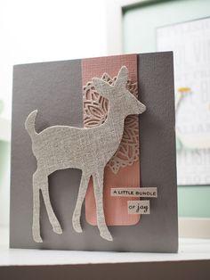 Simppelin kortin juju on pellavakankaisessa eläinkuviossa, Sizzix. Mt Masking Tape, Rico Design, Bookends, Moose Art, Joy, Cards, Animals, Ideas, Home Decor