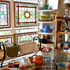 This is the little stained glass shop in Buxton, NC that I visit every year.