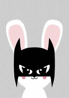 poster A3 Batbunny - Poster met konijn  Poster batbunny staat in elke hippe kinderkamer voor een meisje of een  jongen. Ook leuk om kado te doen of om zelf te gebruiken! Zo creëer je een  nieuwe look in nietveel tijd en met weinig geld.    * Merk: Studio Inktvis   * Afmetingen:42 x 29.7 cm  Maat: onesize