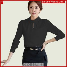 Atasan Wanita Terbaru Model c2 blouse azomi fit ala korea polos - BMGShop