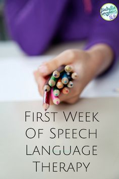 What to do the first week of speech-language therapy - advice from Natalie Snyders, SLP