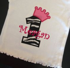 Baby Girls 1st or 2nd Zebra and Hot pink by EverleeBoutique, $12.99