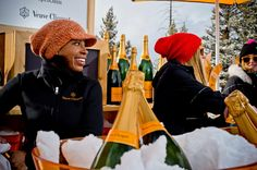 Maison Veuve Clicquot produces luxury champagnes since Discover the collection, the house and food pairing recipes made by chefs. Cristal Champagne, Best Champagne, Veuve Cliquot, Aspen Colorado, Skiing, Winter Hats, Wines, Mountain Living, Oasis